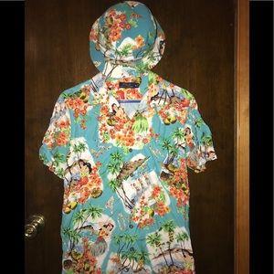 Polo Ralph Lauren Hawaiian Shirt And Bucket Hat